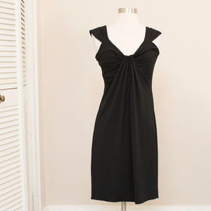 London Times Black Knit Dress 10P